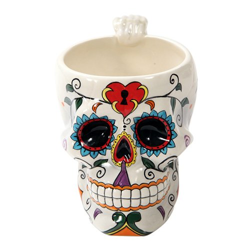 Day of The Dead Love Lock Skull Coffee Mug