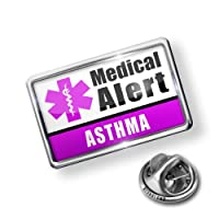 Pin Medical Alert Purple Asthma - Lapel Badge - NEONBLOND from NEONBLOND