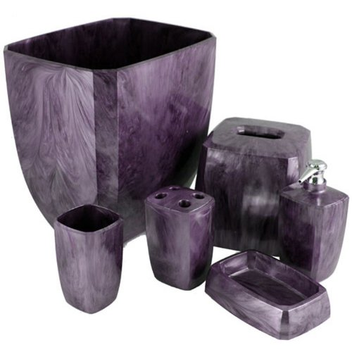 Purple Cameo Bath Accessories