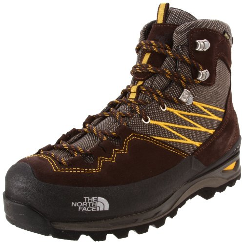 The North Face Men's Verbera Lightpacker GTX Hiking Boot,Demitasse Brown/Algae Yellow,7.5 M US
