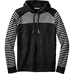 Smartwool Kiva Ridge Striped Hoody - Men\'s Black Small