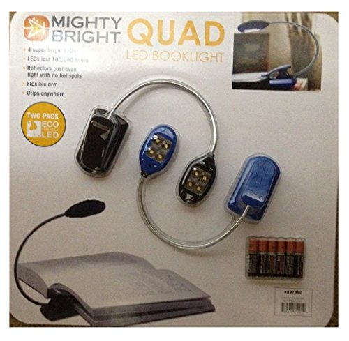 Quad Booklight Eco Friendly Led Two Pack Black & Blue