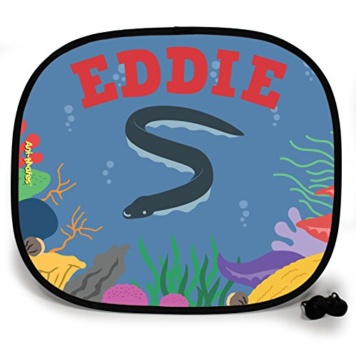 123t ANI-MATES UNDER THE SEA EEL FISH DESIGN PERSONALISED Sunshade x 1