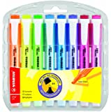 STABILO Swing Cool Highlighter Pens - Assorted Colours (Wallet of 8)