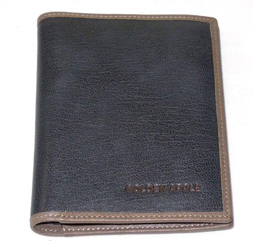 Black Short Billfold  Extra Middle Leaf 2 ID