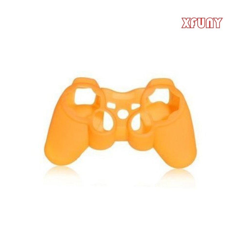 XFUNY(TM) Nice Anti-Slip Protective Silicone Case Rubber Grip Skin Cover for PS3 Playstation 3 Controller-Orange
