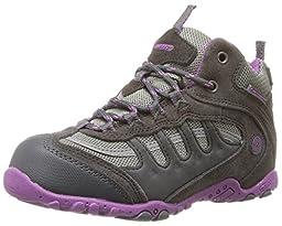 Hi-Tec Penrith Mid WP JR Hiking Shoe,Charcoal/Viola,6.5 M US Big Kid