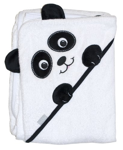 """Extra Large 40""""x30"""" Absorbent Hooded Towel, Panda, Frenchie Mini Couture - 1"""