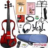 Hallstatt ハルシュタット エレキヴァイオリン EV-30/レッド 4/4サイズバイオリン サクラ楽器オリジナル 初心者入門セット ランキングお取り寄せ