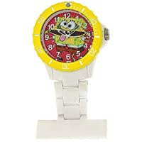 Spongebob Squarepants Water Resistant White Nurses Rotating Bezel Fob Watch SB38