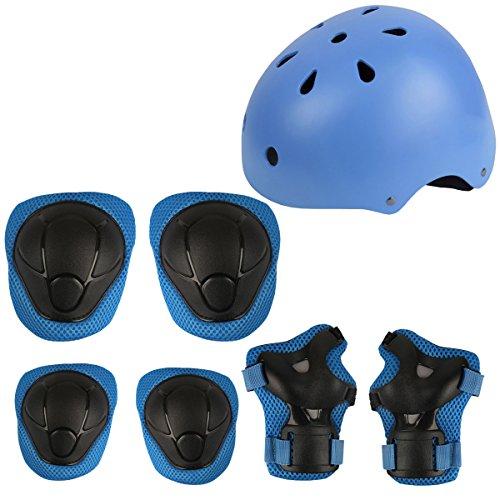 Herbalcandybox-Kids-Protective-Gear-Set-with-Wrist-Guard-Knee-Pads-Elbow-Pads-Helmet