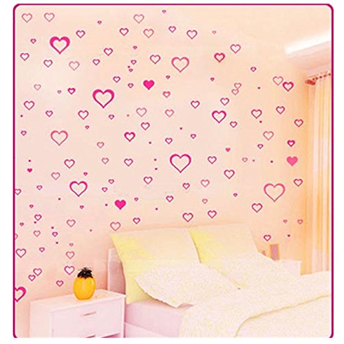 KAKA(TM) Wall Door Window Desk Sticker Vinyl Sticker Home Decoration Decor Paper Decals Removable Art For Kids Children-pink love