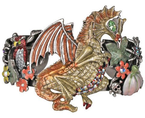 Kirks Folly Harvest Dragon Cuff Bracelet
