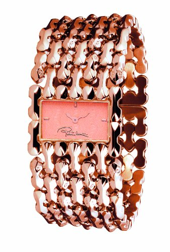 Roberto Cavalli Ladies Oryza Analogue Watch R7253124027 with Rose Gold PVD Dial and Stainless Steel Case