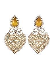 Amethyst By Rahul Popli Yellow Silver Stud Earrings - B00OYSBW2O