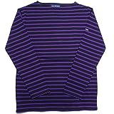 SAINT JAMES セントジェームス ウエッソン ボーダー バスクシャツ 長袖 メンズ レディース (T5, NOIR黒PRUNELLEパープル)