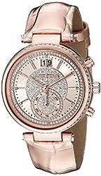 Michael Kors Women's Sawyer Rose Gold-Tone Watch MK2445