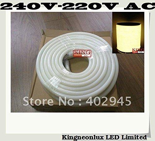 Led Neon Flex Warm White Color 10M/Roll Led Soft Neon Light Led Flexible Neon Strip Led Neon Rope Lights 240V 80Pcs/M Knl