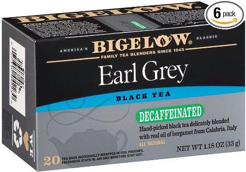 Bigelow Decaf, Earl Grey Tea 20-Count (Pack Of 6)