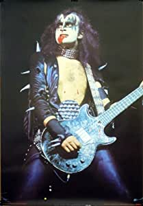 Amazon.com: Kiss 27x38 Gene Simmons Blood Alive Era Poster 1981