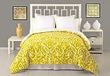 Trina Turk 3-Piece Ikat Duvet Set, Queen, Yellow