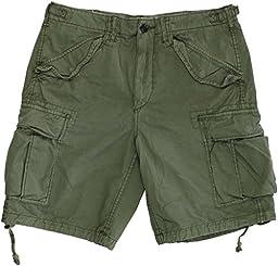 Polo Ralph Lauren Men\'s Relaxed-Fit Ripstop Cargo Shorts 30 Green