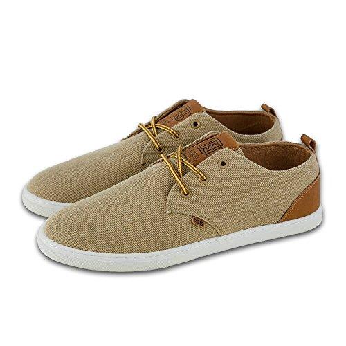Djinns Herren Sneaker Washed Canvas Low Lau khaki khaki 43