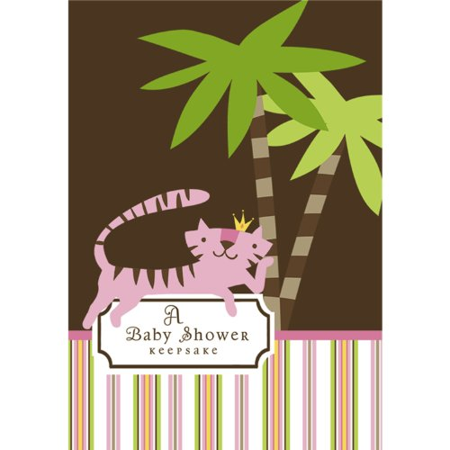 the Jungle Baby Shower Keepsake - Girl Baby Shower Ideas Keepsake Book