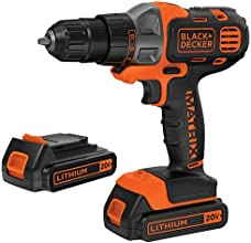 Black & Decker BDCDMT120C-2 20V MAX Lithium Drill/Driver with 2 Batteries