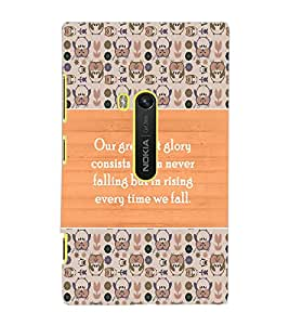 NOKIA LUMIA 920 QUOTE Back Cover by PRINTSWAG