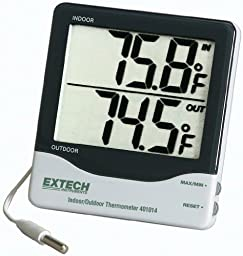 Frey Scientific Big Digit Indoor/Outdoor Thermometer, +/- 1.8 Degree F Accuracy, 0.1 Degree F Resolution