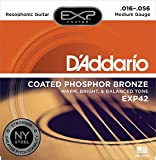 D'Addario EXP42 with NY Steel Coated Resophonic Guitar Strings, Coated, 16-56