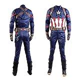 cosplaysky アベンジャーズ3 シビルウォー キャプテンアメリカ 大人 コスチューム キャプテンアメリカ コスプレ衣装