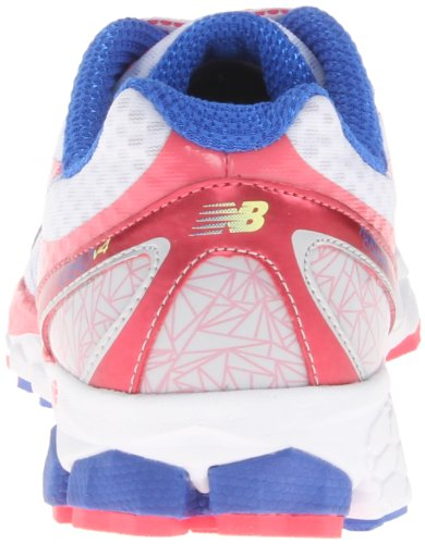 888098227086 - New Balance Women's W1080 Running Shoe,White/Pink,8 D US carousel main 1