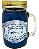 Blueberry Pie Scented 13 oz Mason Jar Candle - Made in the USA by Our Own Candle Company