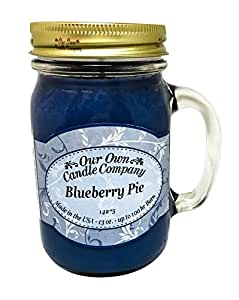 Amazon.com - Blueberry Pie Scented 13 Ounce Mason Jar Candle By Our ...