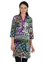 Sohniye Cotton Printed Kurta-Purple