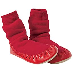 Hanna Andersson Baby Swedish Slipper Moccasins, Size 1 (1), Hanna Red