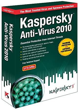 Kaspersky Anti-Virus 2010  3-User [Old Version]