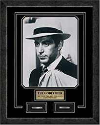 The Godfather. Al Pacino. Professionally Framed in the Custom Made Modern Black Real Wood Frame with Bullets (14 1/4 x 18 1/4)