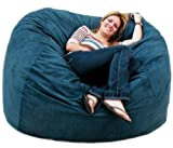 5-feet Navy Cozy Sac Bean Bag Chair Love Seat