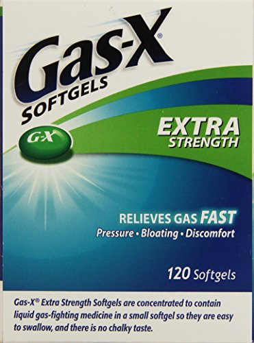 Gas-X Extra Strength Antigas Simethicone, 120 Softgels (Gas X Softgels compare prices)