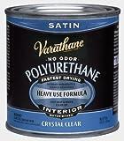 Rust-Oleum Varathane 200261H 1/2-Pint Interior Crystal Clear Water-Based Polyurethane, Water-Based Satin Finish