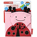 Skip Hop Zoo Reusable Sandwich and Snack Bag Set, Ladybug