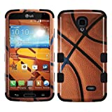 MyBat TUFF Hybrid Phone Protector Cover for LG LS740 Volt - Retail Packaging - Basketball/Black
