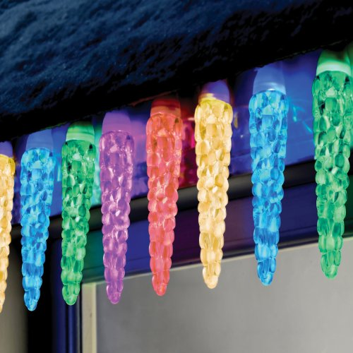 Color Switch Plus 20Ct Dual Color Large Icicle Led Christmas Lights Energy Star®