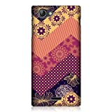 Head Case Designs Zigzag Orange and Yellow Quilt Back Case Cover for Sony Xperia J ST26i
