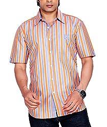 Moksh Men's Striped Casual Shirt V2IMS0414-08 (Large)