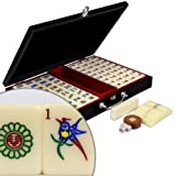 Chinese Mahjong w/Numbered Tiles Wood Case - ''Pro Set'' - Standard
