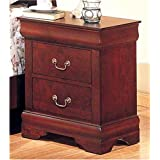 Coaster Louis Philippe Style Night Stand, Cherry Finish